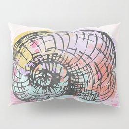AP098 Watercolor snail shell Pillow Sham