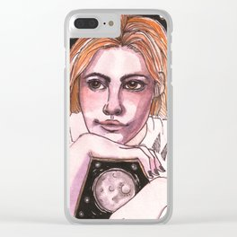 My own moon Clear iPhone Case