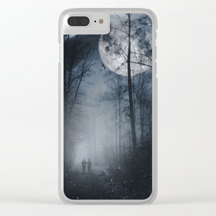 moon walkers Clear iPhone Case