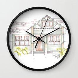 Green Craftsman Wall Clock