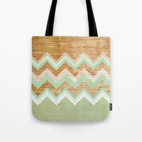 wood Tote Bags featuring Wood by naidl