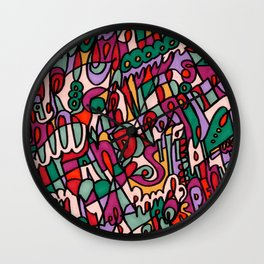 Jammin' Good (Berry) Wall Clock