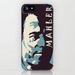 Mahler (Blue) iPhone Case