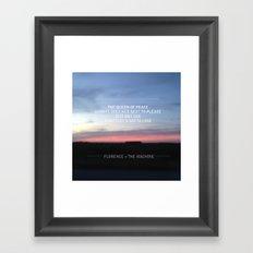 Queen of Peace lyric Framed Art Print