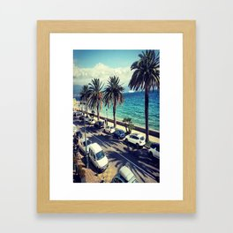 Palm trees from France  Framed Art Print