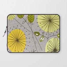 Mid-Century Modern Floral Laptop Sleeve