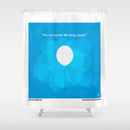 No134 My UP minimal movie poster Shower Curtain