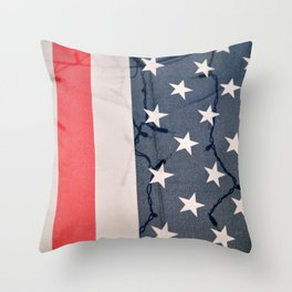 Flag Lights Throw Pillow