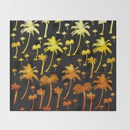golden tropical forest digital pattern Throw Blanket