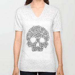 Skull of Roses Unisex V-Neck