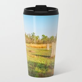 Magnetic termite Mounds in Litchfield National Park Travel Mug