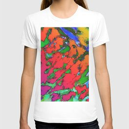 Shattering red tigers T-shirt