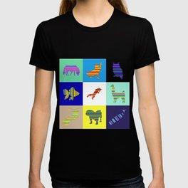 Animal Stripes Composition T-shirt