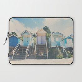 beach huts photograph Laptop Sleeve