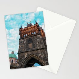Lesser town Bridge tower, Charles Bridge, Prague Stationery Cards