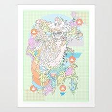 native & fluorescent pastels Art Print