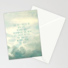 she left pieces of her life behind Stationery Cards