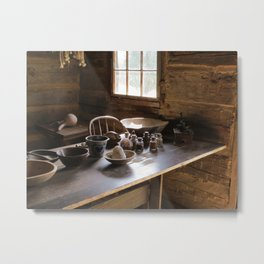Colonial Frontier Kitchen Metal Print
