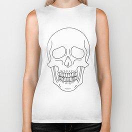Skull (Black Outline) Biker Tank