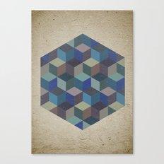 Dimension in blue Canvas Print
