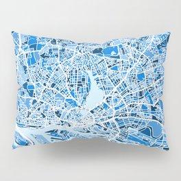 Hamburg Germany City Map Pillow Sham