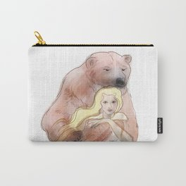 The woman and the polar bear Carry-All Pouch