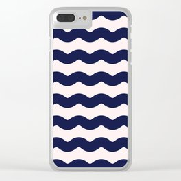 Winter 2018 Color: Ultra Blue Moon on Millennial Pink Waves Clear iPhone Case