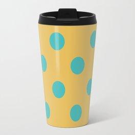 Blue and Yellow Polka dots Travel Mug