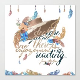 Jane Austen - No Enjoyment Like Reading Canvas Print