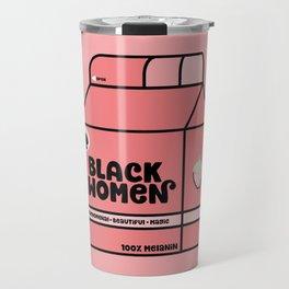 Black Women - Strawberry Travel Mug