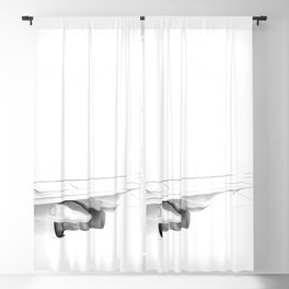Black and white airplane Blackout Curtain