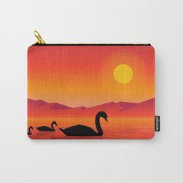 Silhouettes of Swans at Sunset Carry-All Pouch