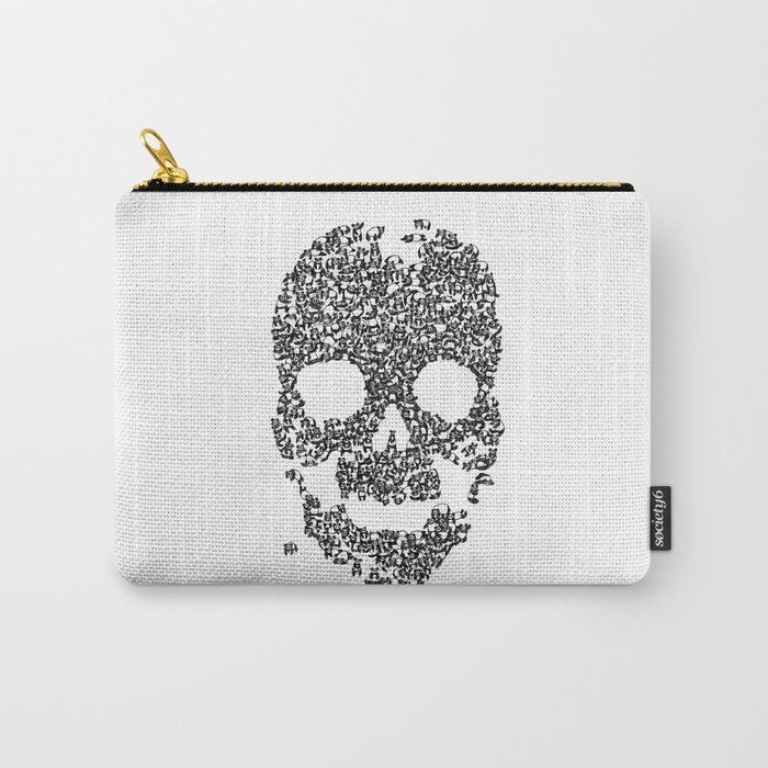 Panda is cool/skull Carry-All Pouch