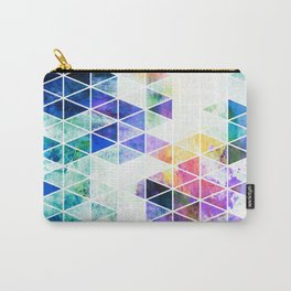 Grungy Bright Triangle Pattern Carry-All Pouch