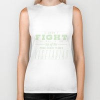 vegetarian Biker Tanks featuring TO BE A VEGETARIAN by KLAM