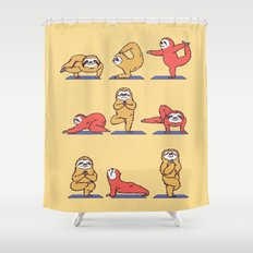 Sloth Yoga Shower Curtain