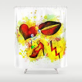 Red Lips and Other Things Shower Curtain