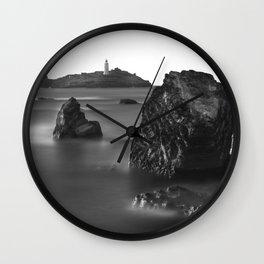 Godrevy Lighthouse, Cornwall, England, United Kingdom Wall Clock