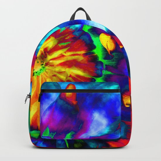 Groovy Tie Dyed Square by wallartphotos