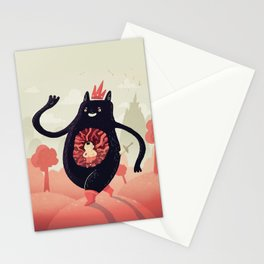 King eats King Stationery Cards