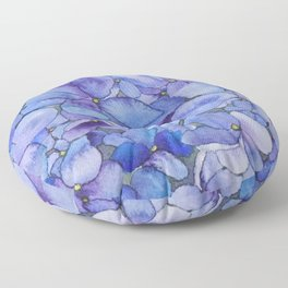 Watercolour Hydrangea Floor Pillow