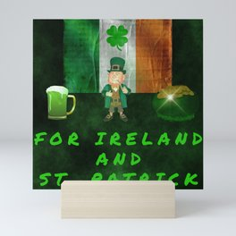 For Ireland And St Patrick Mini Art Print