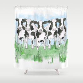 A Field of Cows Shower Curtain