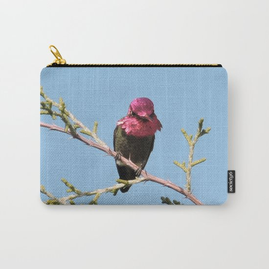 Mr. Anna's Hummingbird in Ideal Light Carry-All Pouch