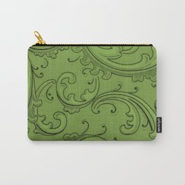 Greenery Swirls Carry-All Pouch
