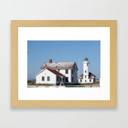 A perch by the Sea Framed Art Print