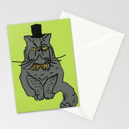 Walter the monocle wearing cat Stationery Cards