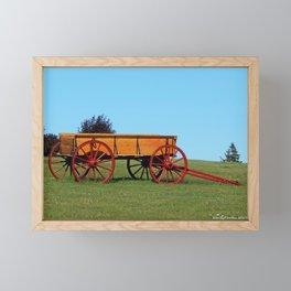 Wagon on a Hill Framed Mini Art Print