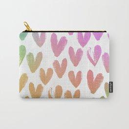 Boho Heart Foils Carry-All Pouch