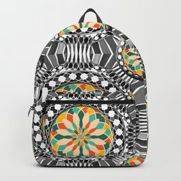 Beveled geometric pattern Backpack